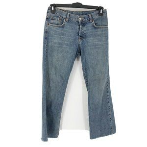Lucky Brand Distressed Button Fly Bootcut Jeans